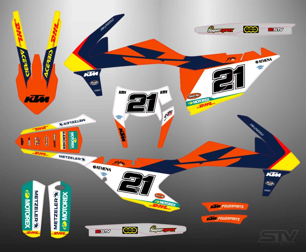 Kit adhesivos ktm 2018 factory