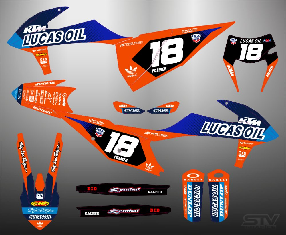 Kit adhesivos ktm 2007 motocross