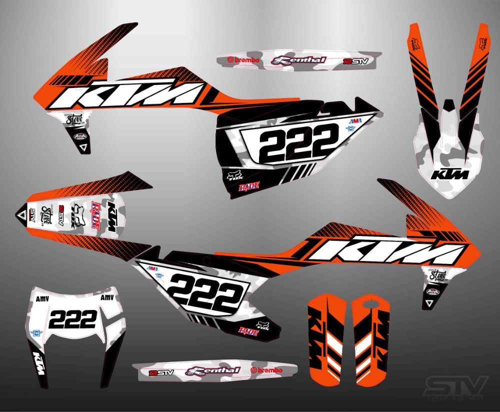 Kit adhesivos ktm 65 sx 2017 kini Red bull