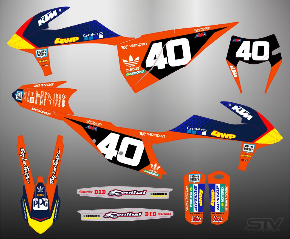 Kit adhesivos ktm 2012 redbull fox