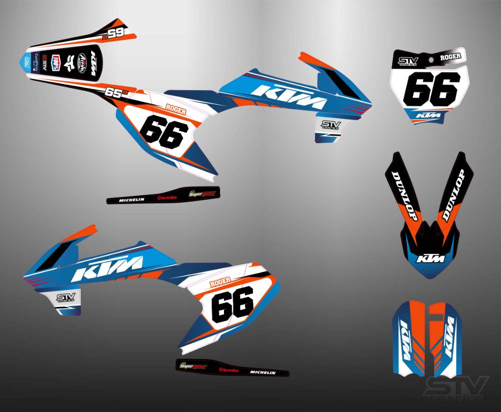 Kit adhesivos ktm 2017 sx replica 92