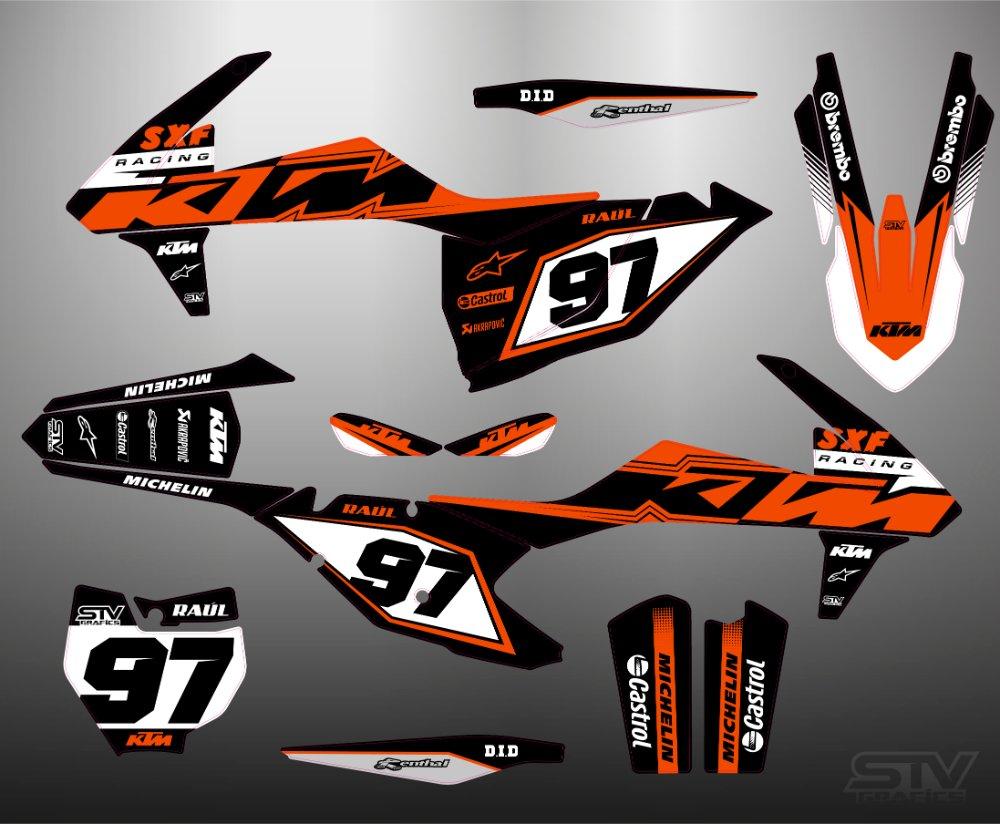 Kit adhesivos ktm 2015 Armand Monleon
