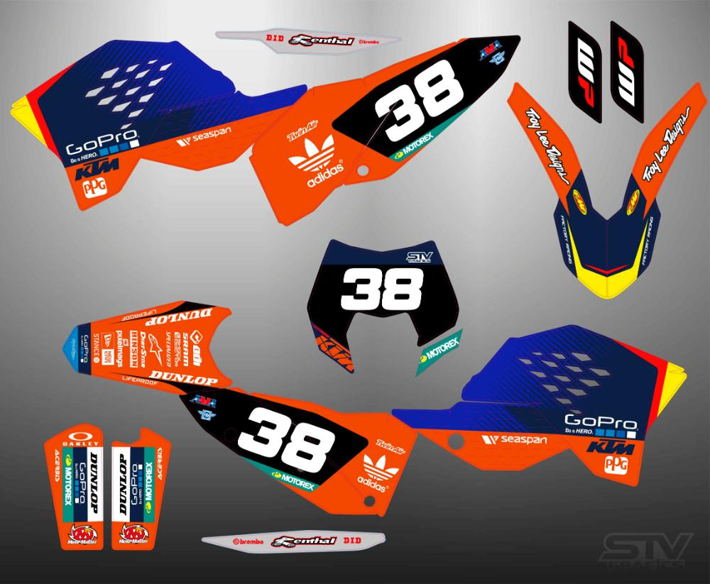 Kit adhesivos ktm exc 450 2007 mix 2017