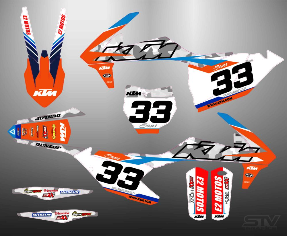 Kit adhesivos ktm exc 2017 factory Red Bull