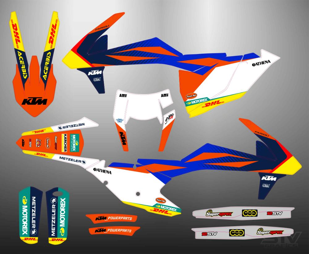 Kit adhesivos ktm 2018 motocross
