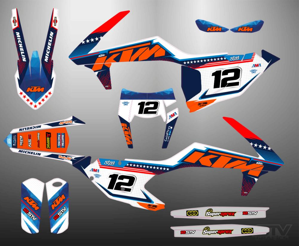 Kit pegatinas ktm 2017 exc red bull