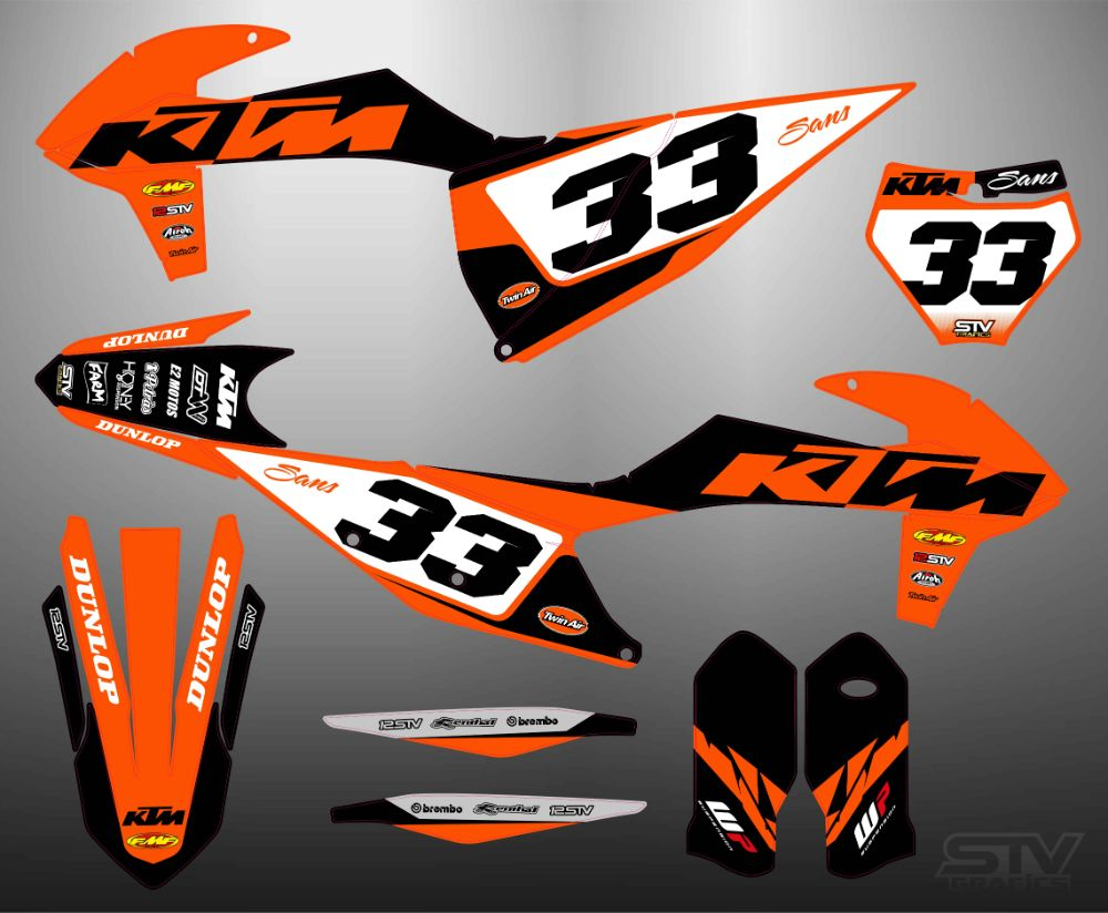 Kit pegatinas ktm exc 2016 factory