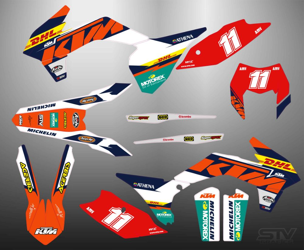 Kit adhesivos ktm 2015 factory DHL