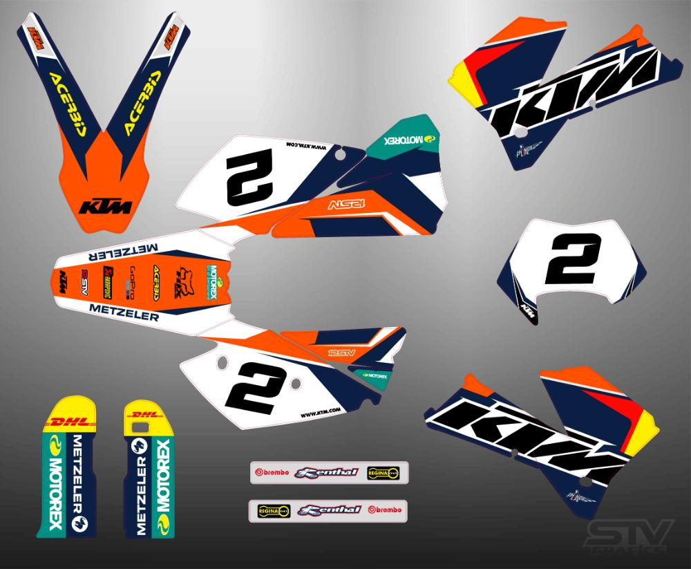Kit adhesivos ktm exc 2007 Red Bull