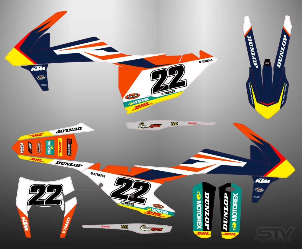 Kit adhesivos ktm 2017 replica 90