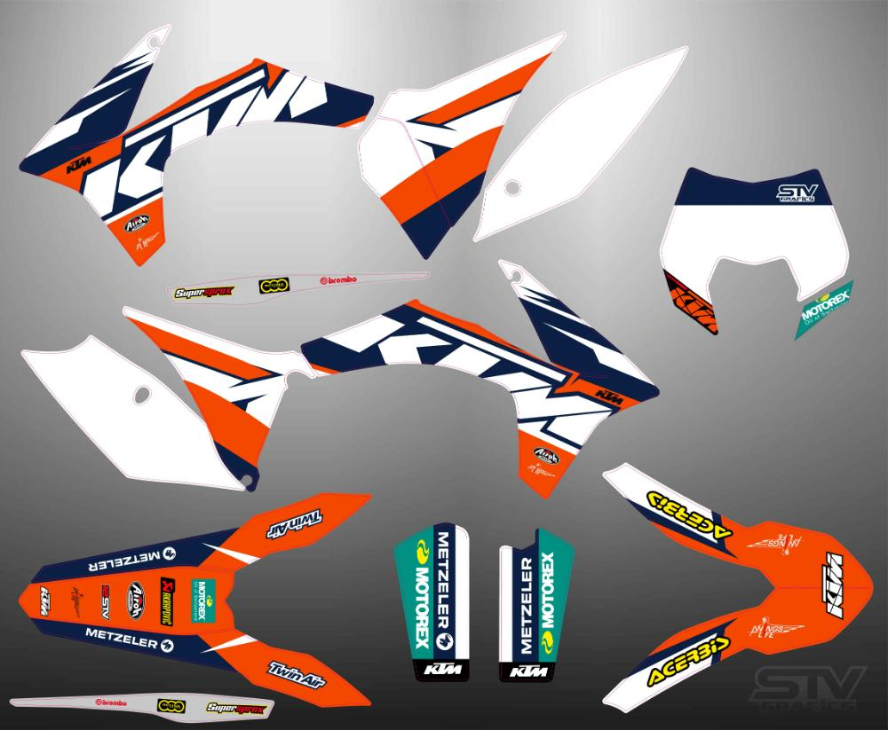 Kit adhesivos ktm exc 2015 Steve Graphics