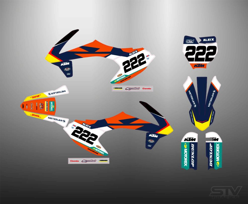 Kit adhesivos ktm 2017 factory