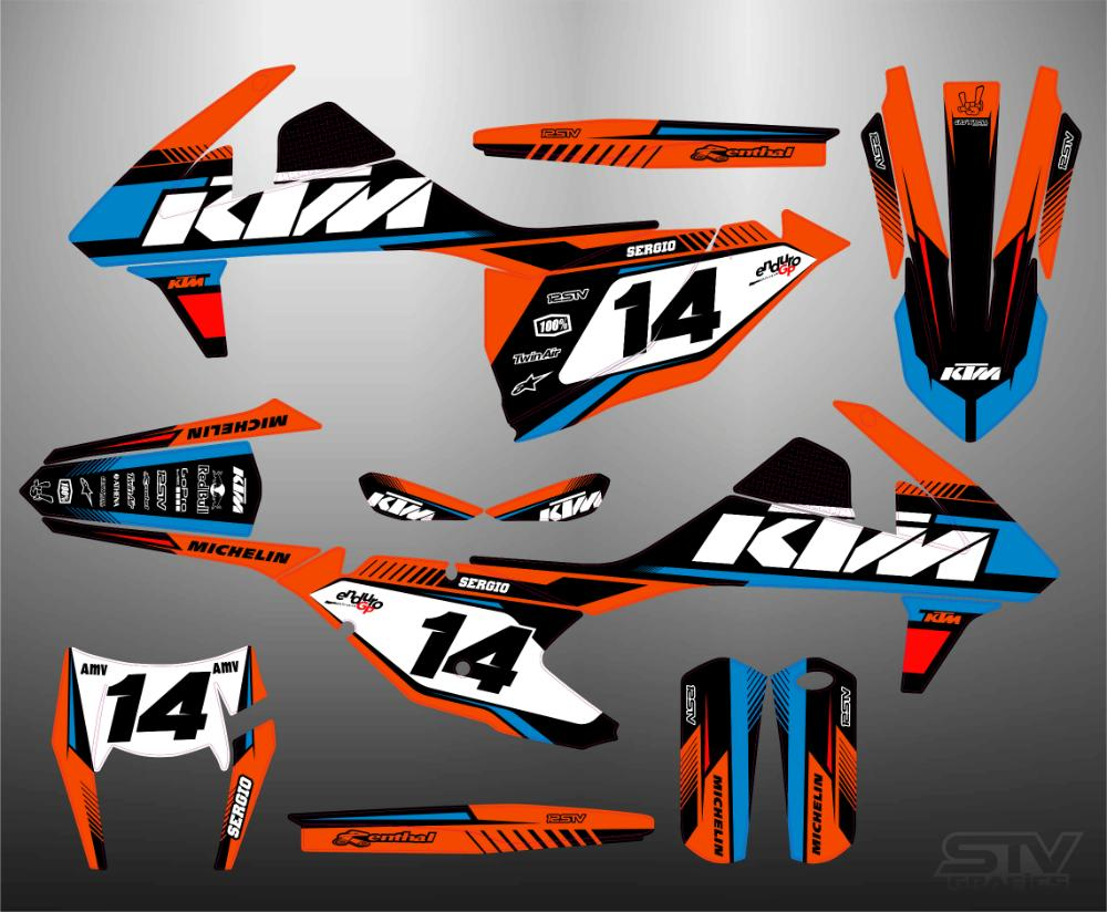 Kit adhesivos ktm 2015 red